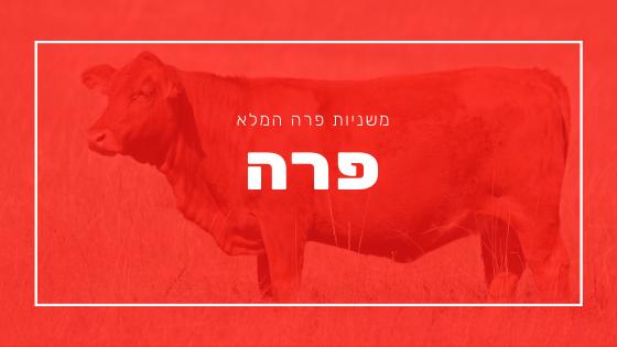 משניות פרה | פרשת יהדות