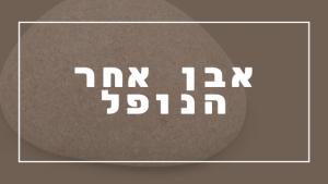 לא לדחות אבן אחר הנופל | פרשת יהדות