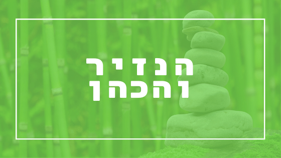 הנזיר והכהן - פרשת יהדות