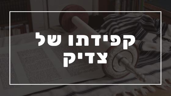 קפידתו של צדיק | פרשת יהדות